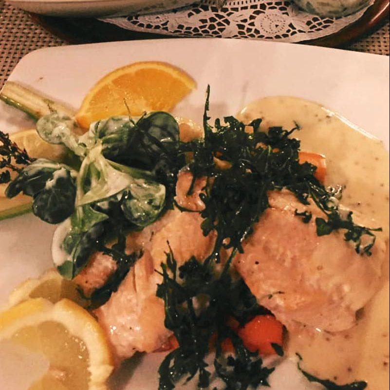 Bild von einem Meerforellen-Abendessen